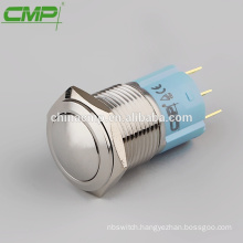 CMP waterproof 1NO1NC push button domed 16mm non led switch