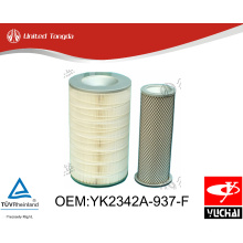 YK2342A-937-F Original Yuchai engine air filter for Chinese truck