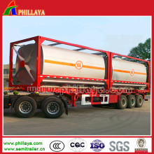 3 Axles 50 Cbm Chemical Liquid Tanker Semi Trailer