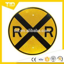 TID, 18 x 18 - Letreros redondos de cruce de ferrocarril (RXR) reflectantes de alta intensidad (HIP) prismáticos de alta intensidad