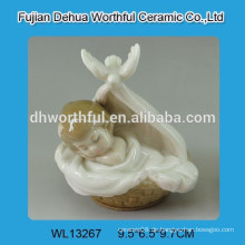 Cutely bassinet Baby Design weiß Keramik Dekoration