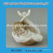 Mignon décoration en céramique blanche design bébé