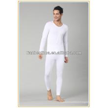 Jacquard tissé sans couture hommes long johns, hommes pyjamas long jupons