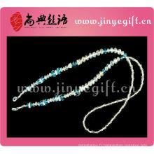 Chaîne de perle de cristal faite main de bijoux de mode pour des lunettes de soleil
