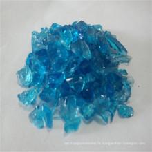 Verre moulé bleu océan 1-2mm, verre sable / granulés pour importateur