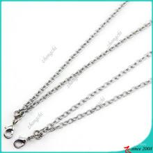 Collar de plata de cadena de hierro para Locket flotante (FN16040966)
