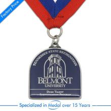 Hohe Qualität Mode Günstige Zink-legierung Stempeln Gedruckt Universität Medaille für Souvenir