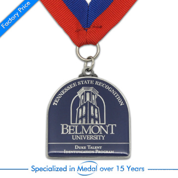 High Quality Fashion Cheap Zinc Alloy Stamping Printed University Medal for Souvenir
