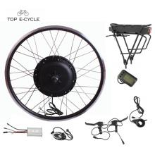 Kit de conversión de bicicletas eléctricas de mayor tamaño volumétrico trasero paquete de batería 48v 1000w
