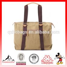 Hot selling canvas messenger bag comfort backpack shoulder bag(ES-Z284)