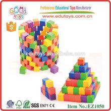 100pcs Kids Wooden Construction Toys pour la maternelle