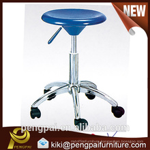 High quality plastic office chair/restaurant chair with chromed tube
