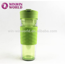 Wholesale Outdoor Portable BPA Free Plastic Sport Water Bottle fruit infuser