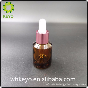 30ml best selling amber colored empty cosmetic glass dropper bottle