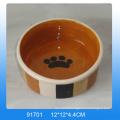 High quality footprint design ceramic dog bowl