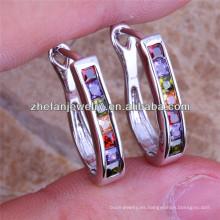 Nueva llegada a granel clip-on pendientes joyería studs vestido de novia piedras de cristal