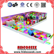 Candy Theme Happy Children Soft Play Center con área para bebés