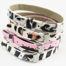 8mm Leopard Print Leather Bracelet for Girl