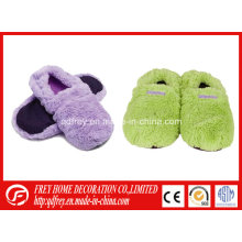 Fluffy Microwaveable Heated Slipper with Wheat Bag