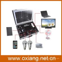 Sistema de iluminación solar fuera de la red de 500w protable protable con inversor de onda sinusoidal pura y mini controlador solar de alta calidad