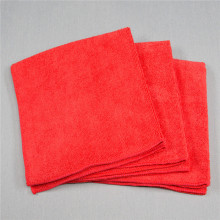 Good Quality Microfiber 40/40cm Red Towel