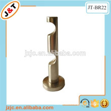 double alluminium alloy curtain rods wall brackets