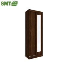 Современный простой проект деревянных конструкций гардероба