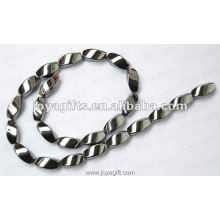 "8x16MM Loose Magnetic Hematite Twist Beads 16 """