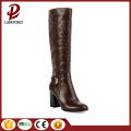 mid heel totem printing chestnut hot warm boots
