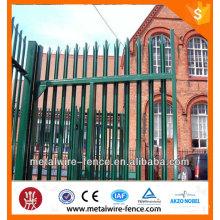 Powder coated metal piquet palisade fence para la venta