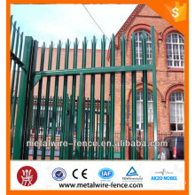 Powder coated metal picket palisade fence for sale