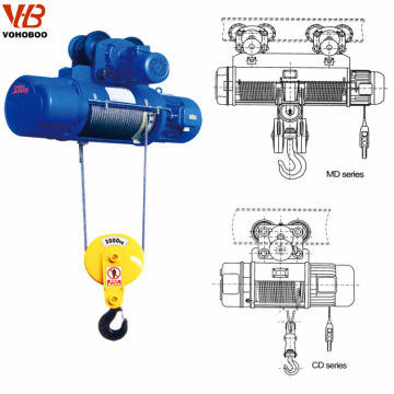 0.25~20ton Wire Rope Hoist Overhead Bridge Crane monorail system Electric chain hoist