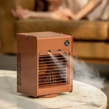 Mini Portable Air Cooling Fan Air Cooler Fan Office Home Desktop Use USB Air Conditioner Humidifier Purifier Fan with Water Tank