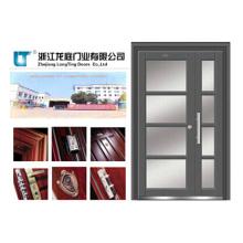 Porta de aço inoxidável exterior da folha dobro (LTSS-7003)