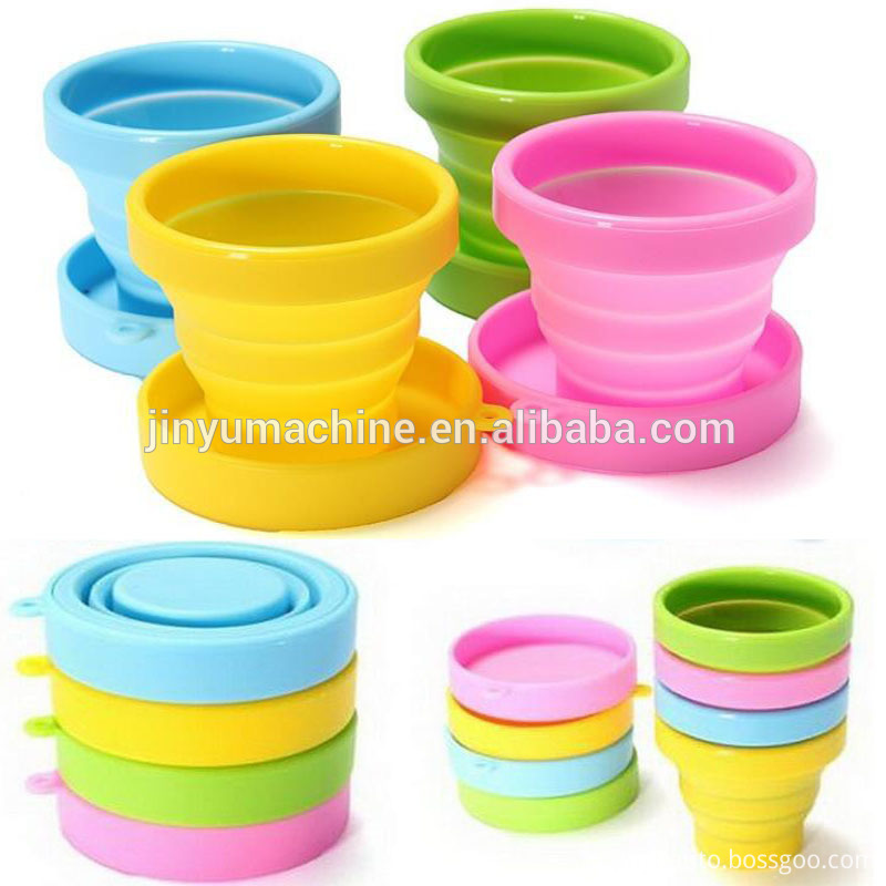 Portable Collapsible Color Silicone Folding Retractable Mug 1