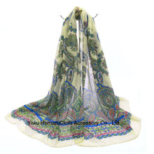 Print Scarf for Women Spring Shawl Wraps Scarf