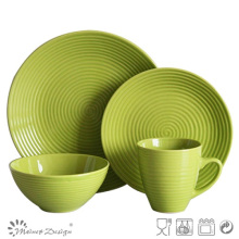 16PCS круглый вихревой керамический набор ужин