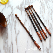 wooden long coffee stir stick bar stirrer