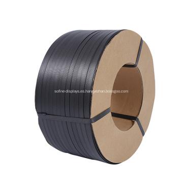 Correas de fleje de bandas de palets de plástico negro