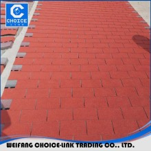 colorful fiberglass reinforced asphalt shingle roof tile