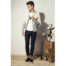 100%Cotton Fashion V-Neck Knit Men Cardigan Sweater with Button