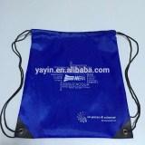 Hottest 210D cheap colourful custom cute children polyester drawstring bag
