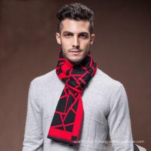 Écharpe tissée acrylique en nylon de laine chaude de la mode des hommes d'hiver (YKY4616)
