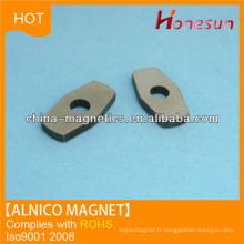 feuille magnétique permanent alnico avec trou