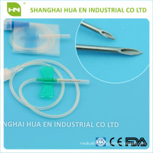 CE FDA ISO approved Green and blue Disposable sterile vacuum butterfly needle