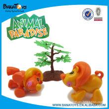 Plastic mini cute lion dance toy