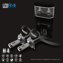 O poder superior personalizado dos bulbos de lâmpada do carro das microplaquetas r4 conduziu as luzes conduzidas h4 do farol