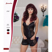 Sexy Satin Leather Babydoll with Low Price