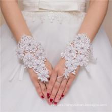 Guante fingerless del cordón de la boda de la decoración del cordón de la señora de la alta calidad de la venta caliente