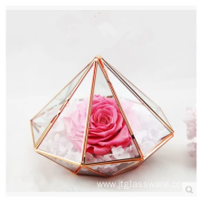 Pentagon Ball Shape Open Plants Terrarium en verre